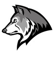 wolf mascot vector image vector image