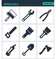 Set of modern icons Repair tools cushion vector image