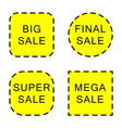 set of sale stickers and labels isolated on white vector image