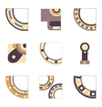 Parts of bearing colored icons vector image