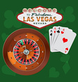 Las Vegas Roulette and Cards vector image