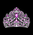 a beautiful crown tiara with gems vector image vector image