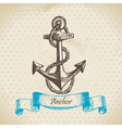 Anchor hand drawn vector image vector image