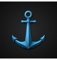 Anchor icon on black textured background vector image vector image