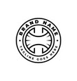 beautiful creative letter h initial logo design vector image