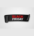 black paper roll black friday concept design vector image vector image