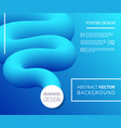 blue abstract background with fluid shape vector image