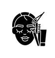 brow art black glyph icon vector image vector image