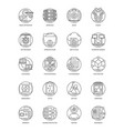 business and data management line icons set vector image vector image