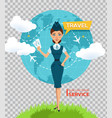 buy air tickets online advertising posterbanner vector image vector image