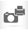 camera and printer icon vector image vector image
