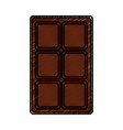 chocolate bar sweet block icon vector image