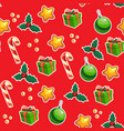 christmas wrapping paper with seamless pattern vector image vector image