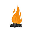 coal fire icon flat style vector image