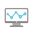 computer desktop with statistics vector image vector image
