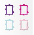 cute photo frame baby set of border design pastel vector image