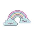 cute rainbown fantasy icon vector image vector image