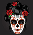 day of the dead girl make up vector image vector image