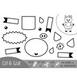 education paper game for children pig vector image vector image