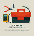 electrical instrumentation for repairement works vector image vector image
