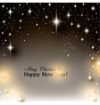 Elegant Starry Christmas background with place for vector image vector image