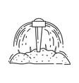 farming irrigation icon hand drawn icon set vector image vector image