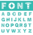 Font with ornament Typeface of latin letters vector image