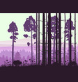 forest landscape minimalistic pines vector image