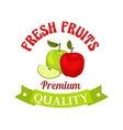 Fresh apple Premium quality fruits sticker vector image vector image