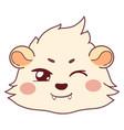 funny cavy winking - playful smiley vampire emoji vector image vector image