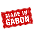 Gabon red square grunge made in stamp vector image vector image