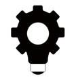 gear lightbulb silhouette vector image vector image