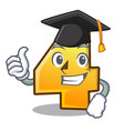 graduation cartoon fence with number four vector image