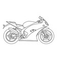 hand draw style of a new motorcycle vector image