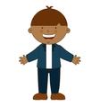 happy boy student uniform isolated vector image vector image