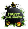 happy halloween symbol or banner vector image