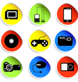 icon set of electronic gadgets vector image vector image