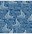 Inspiring seamless pattern with ships and the sea vector image