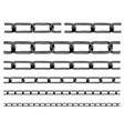 iron chain background vector image vector image