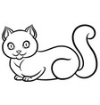 isolated black and white lying cat vector image