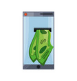 isolated money cellphone vector image
