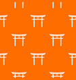 japanese torii pattern seamless vector image vector image