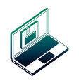 laptop computer floppy backup data network vector image vector image