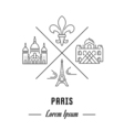 Line Banner France vector image vector image