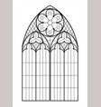 medieval gothic contour window vector image vector image