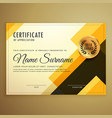 modern creative certificate design template with vector image vector image