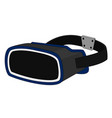 modern vr headset technology device display vector image vector image