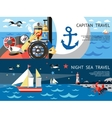 Nautical Concept Banner Set vector image vector image
