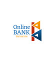 online bank investment letter b icon vector image vector image