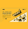 petroleum refining company website template vector image vector image